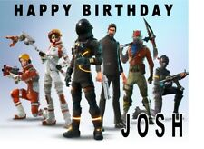 """PERSONALISED FORTNITE CAKE TOPPER 10""""X8"""" A4 ICING SHEET ANY NAME AGE"""