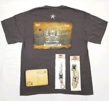 Mens AFGHANISTAN RETRO STRIP Herren patriotisch Ringer T-Shirt