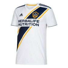 LA Galaxy MLS Adidas Youth White Official Climalite Team Replica Jersey