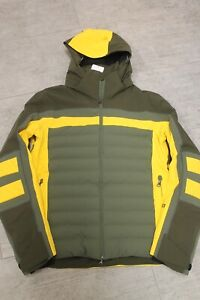 Bogner Men's Ski Jacket Zürs Green Yellow Size 48 S