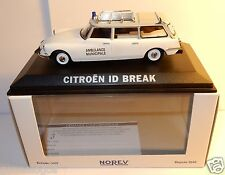 NOREV CITROEN DS ID 19 BREAK AMBULANCE MUNICIPALE EMERGENCY 1/43 IN BOX