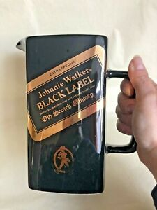 Vintage Johnnie Walker Black Label Old Scotch Whiskey/Water Pitcher
