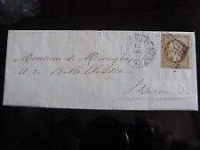LETTRE 13/12/1861 avec 10c Napoléon III YT13B cachet 1520 bureau de Paris G