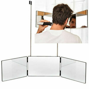 3 Way Mirror Glass Trifold Mirror for Self Hair Cutting & Styling Haircut Tool