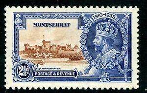 British 1935 KGV Silver Jubilee Montserrat 2½d Scott # 87 Mint C467