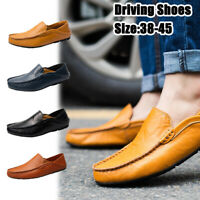 Men's Driving Moccasins Casual Slip On Boat Shoes Fashion Leather Penny Loafers