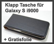 Displayfolie + Tasche für Samsung Galaxy S 1 i9000 Etui Case Cover Schutz Hülle