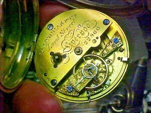 English Fusee 52MM Coin Case M I Tobias Liverpool Gilt Keywind Pocket Watch