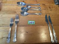 42 Piece Silver Plated Kings Pattern Cutlery Set for 6 Incl Serving Spoons