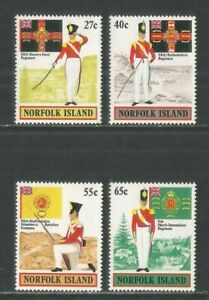 Norfolk Island 1982 British Army Uniforms--Attractive Topical (302-05) MNH
