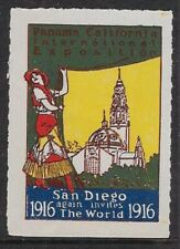 USA 1916 Poster stamp - San Diego Again invites the world 1916, MNH - dw51v