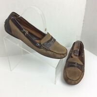 Born Concept Driving Loafers Shoes Women's Size 8.5 Suede Leather Tan Brown