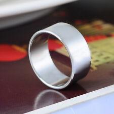 1PC Silver Tone Plain Lady Jewelry Fashion Ring Size 5