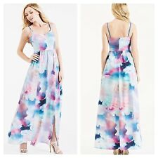 Yumi Size 10 Cloud Print Maxi DRESS Occasion Holiday Wedding £84 Party Evening