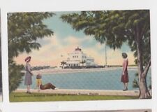VINTAGE PETER O KNIGHT AIRPORT TAMPA FLORIDA POSTCARD 1948 POSTED