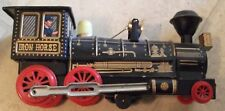 VINTAGE TIN TOY IRON HORSE TRAIN MAKES NOISE AND RUNS MADE IN JAPAN