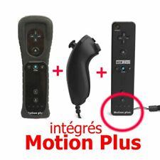 2n1 Manette Wiimote Controller Nunchuk Intégré pour Nintendo Wii U Noir