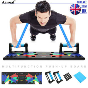 9 in 1 Push Up Rack Board Fitness Workout Train Gym Muscle Exercise Pushup Stand
