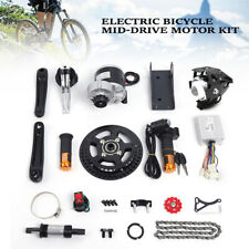 Electric Bicycle Mid-Drive Motor Conversion Kit Refit E-bike Parts 450W 48V NEW