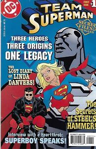 Team Superman Comic 1 Secret Files Cover A First Print 1998 Karl Kesel DC