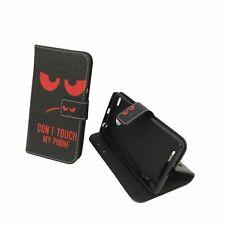 Schutz Hülle für Handy Xiaomi Redmi 3s Dont Touch Rot Tasche Wallet Cover Neu