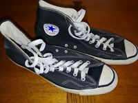 Converse All Stars Chuck Taylor Made In USA Vintage 1970s Black Men's Size 13