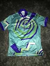 Sugoi Womens Cycling Jersey Medium teal green and purple