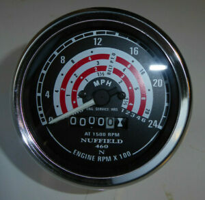 NUFFIELD 4/60 TRACTOR REV COUNTER CLOCK COMPLETE WITH NEW CABLE