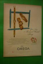 1954 Originale Pubblicita' OROLOGIO OMEGA LADY you say a thousand unsaid things