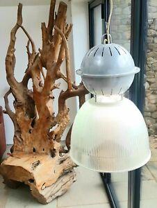 Vintage holophane style industrial pendant lights high bay warehouse lamp