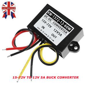 DC-DC Step Down Buck Converter (15-72v) 24V 36V 48V 60V to 12V 5A 60W Output UK
