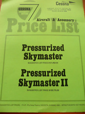 1977 Cessna 337 Pressurized Skymaster Twin Pusher Aircraft/ Accessory List Price