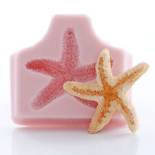 Silicone Starfish Mold Polymer Clay Resin Soap Embed Food Safe Fondant Mold (886