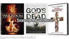NEW - 3 Pack War Room - Gods Not Dead - Do You Believe DVD NEW