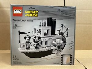 LEGO Ideas - 21317 - Disney's Steamboat Willie - NEW - SEALED - FREE SHIPPING