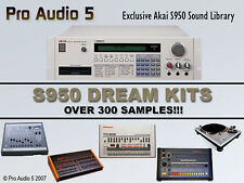 Akai S950 Dream Kits - Sample Library - 8x Floppy Disks - OVER 300 SAMPLES