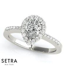 Semi Mount For Pear Diamond Engagement Ring 14k Gold