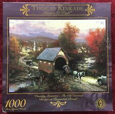 Thomas Kinkade 1000 Piece Jigsaw Puzzle Covered Bridge at Thomaston Brook Ceaco