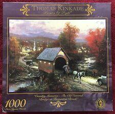 Ceaco Thomas Kinkade 1000 Piece Jigsaw Puzzle Covered Bridge at Thomaston Brook