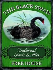 BLACK SWAN TRADITIONAL ALES VINTAGE GREEN,PUB SIGN 15X20CM STEEL WALL PLAQUE TIN