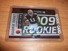 (9) 2009 Football Contenders Mohamed Massaquoi Rookie Auto Patch Cards Lot