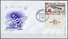 FRANCE PREMIER JOUR PHILATEC SUR ENVELOPPE DU 05/06/1964 A VOIR