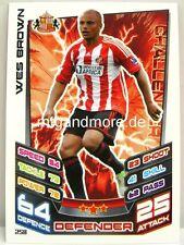 Match Attax 2012/13 Premier League - #258 Wes Brown - Sunderland