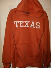 NIKE Texas Longhorns NCAA Hoodie Jacket Boys Orange White Size 16 / 18  NWT