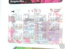 Used Singapore 1995 Calendar phone card