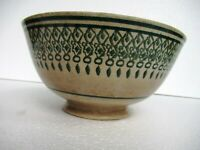 "Antique Polychrome Spongeware Bowl Porcelain Spatterware Pottery Collectible""023"