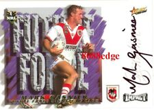 2001 SELECT NRL FUTURE FORCE SIGNATURE #FF8: MARK GASNIER /675 ST.GEORGE DRAGONS