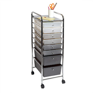 Seville Classics 8 Drawer Multipurpose Mobile Rolling Utility Storage New