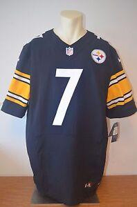 Pittsburgh Steelers Nike Elite 7 Ben Roethlisberger Authentic Home Jersey Multi