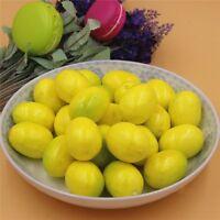 Pack 20 Lifelike Artificial Faux Lemon Fake Fruit Miniature Crafts Decorations